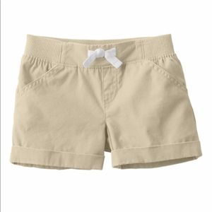 Jumping Beans Rolled Cuff Shorts Tan New